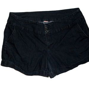 Pants - Dark Wash Blue Jean Shorts